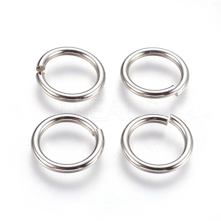 304 Stainless Steel Close but Unsoldered Jump Rings STAS-P212-25P-15-1