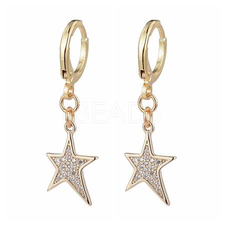 Brass Huggie Hoop EarringsX-EJEW-JE04187-02-1