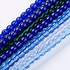 Glass Beads Strands M-GR4MM-B-1