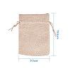 PandaHall Elite Burlap Packing Pouches Drawstring BagsABAG-PH0001-14x10cm-05-3