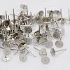 304 Stainless Steel Stud Earring FindingsSTAS-N019-17-6mm-2