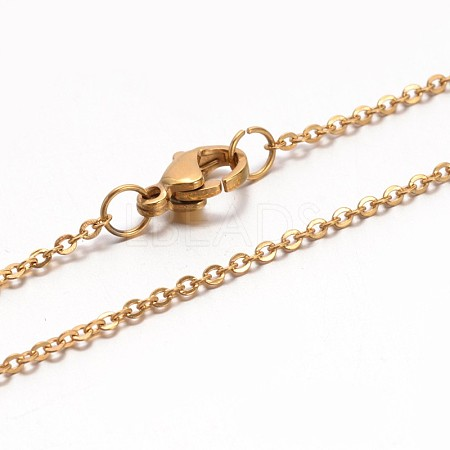 304 Stainless Steel Cable Chain NecklacesNJEW-E026-04G-1