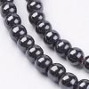 Non-Magnetic Synthetic Hematite Beads StrandsG-H1624-6mm-1-3