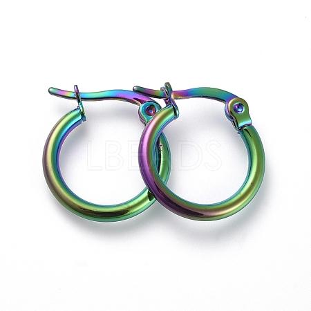 304 Stainless Steel Hoop EarringsX-EJEW-G260-02E-M-1