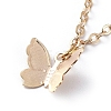 Brass Butterfly Charm AnkletsX-AJEW-AN00281-01-2