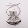 Velvet Jewelry Bags with Drawstring & Plastic Imitation PearlTP-CJC0001-03F-2