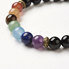 Yoga Chakra Jewelry Stretch Bracelets BJEW-G554-02-3