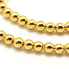 Electroplate Non-magnetic Synthetic Hematite Beads StrandsX-G-P194-01-4mm-03-2