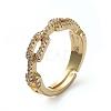 Adjustable Brass Finger RingsRJEW-G096-27G-1
