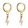 Brass Huggie Hoop EarringsX-EJEW-JE04208-03-1