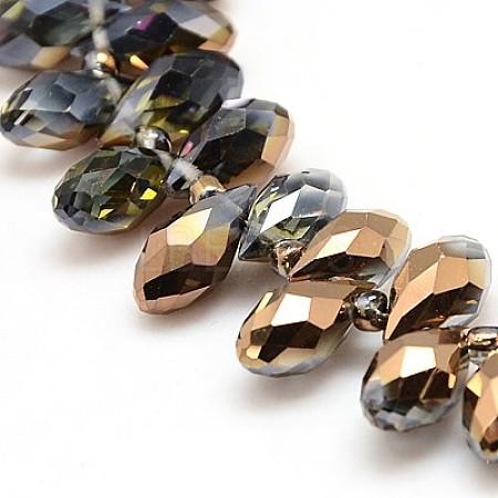 Electroplate Glass Beads StrandsX-EGLA-J031-H06-1