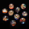 Universe Galaxy Starry Night Transparent Epoxy Resin Beads X-RESI-N024-008-1