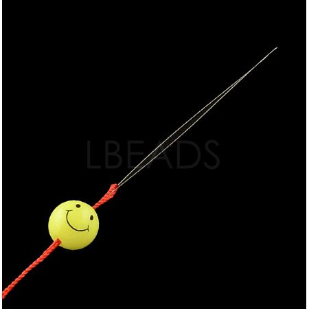Iron Collapsible Big Eye Beading NeedlesTOOL-R095-04-1