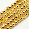 Electroplate Non-magnetic Synthetic Hematite Beads StrandsX-G-P194-01-4mm-03-1