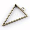 Rack Plating Alloy Triangle Open Back Bezel PendantsX-PALLOY-S047-09F-FF-2