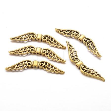Tibetan Style Alloy Wing BeadsX-TIBE-1129-AG-FF-1