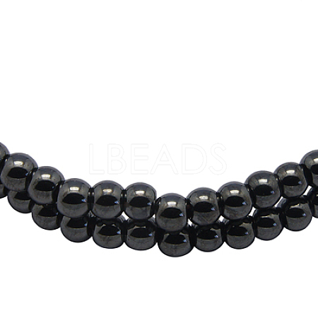 Magnetic Synthetic Hematite Beads Strands IM5mm201-1