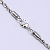 304 Stainless Steel Necklaces Unisex Rope Chain NecklacesNJEW-507L-10-2