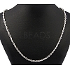 304 Stainless Steel Necklaces Unisex Rope Chain NecklacesNJEW-507L-10-3