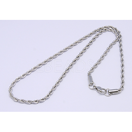 304 Stainless Steel Necklaces Unisex Rope Chain NecklacesNJEW-507L-10-1