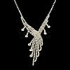 Fashionable Wedding Rhinestone Necklace and Stud Earring Jewelry SetsSJEW-R046-10-5
