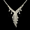 Fashionable Wedding Rhinestone Necklace and Stud Earring Jewelry SetsSJEW-R046-10-6