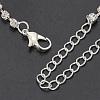 Fashionable Wedding Rhinestone Necklace and Stud Earring Jewelry SetsX-SJEW-S042-06-6