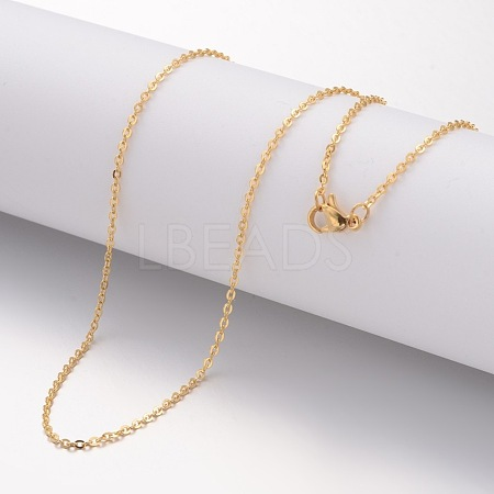 304 Stainless Steel Necklace MakingX-MAK-K004-17G-1