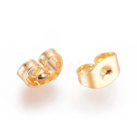 Real Gold Plating Brass Ear NutsX-KK-L147-214-NR-1