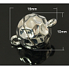 Platinum Round Brass Magnetic ClaspsX-KK-C2918-N-1