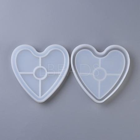 DIY Heart Coaster Silicone MoldsDIY-P010-31-1