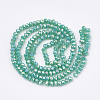 Electroplate Opaque Solid Color Crystal Glass Beads StrandsX-EGLA-S171-01B-06-2
