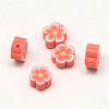 Handmade Polymer Clay Flower Plum Blossom BeadsX-CLAY-Q213-10mm-M-2