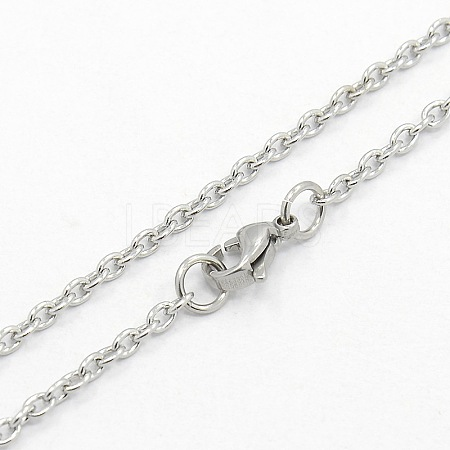 304 Stainless Steel Cable Chain NecklacesSTAS-O037-120P-1