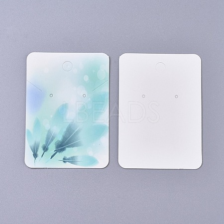 Cardboard Earring Display CardsCDIS-WH0013-05F-1