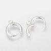 Brass Huggie Hoop Earring FindingsX-KK-Q675-52S-1
