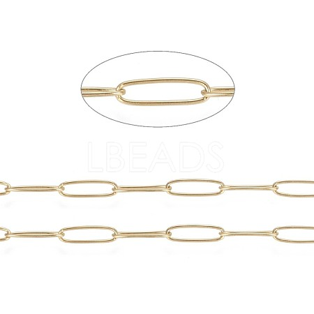 Vacuum Plating 304 Stainless Steel Paperclip ChainsX-CHS-F010-01C-G-1