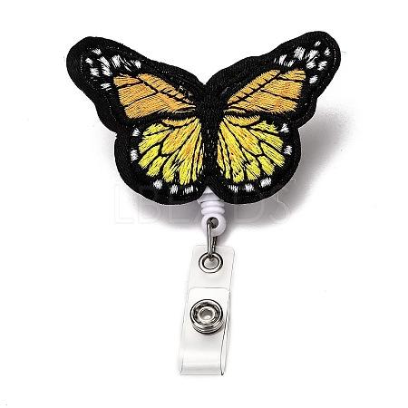 Butterfly Felt & ABS Plastic Badge ReelX-AJEW-I053-26-1
