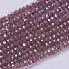 Electroplate Glass Beads StrandsX-GLAA-F076-FR12-1