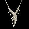 Fashionable Wedding Rhinestone Necklace and Stud Earring Jewelry SetsSJEW-R046-10-4