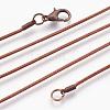 Brass Round Snake Chain Necklace MakingX-KK-F763-07R-1
