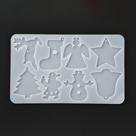 Christmas Theme DIY Keychain Silicone MoldsDIY-I057-02-1