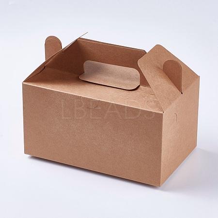 Kraft Paper BoxCON-WH0047-01-1