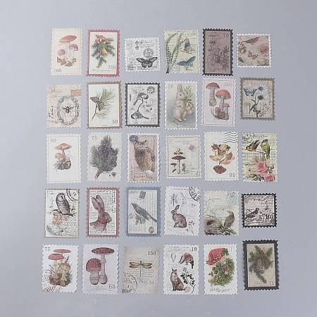 Vintage Postage Stamp Stickers SetDIY-B008-03B-1