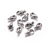 Jewelry Findings Original Color Stainless Steel Lobster Claw ClaspsX-STAS-E002-2