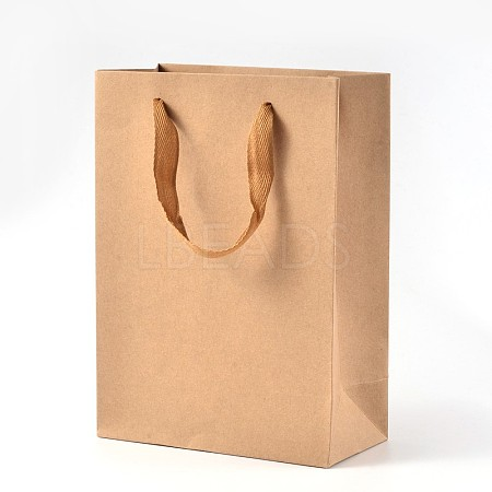 Rectangle Kraft Paper Bags with HandleAJEW-L048A-02-1