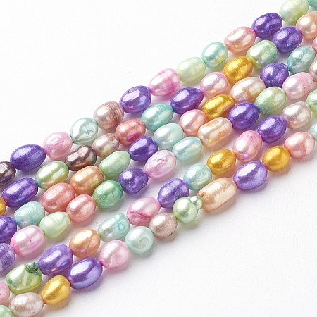 Dyed Natural Cultured Freshwater Pearl BeadsX-PEAR-R007-5~6mm-1