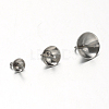304 Stainless Steel Cup Pearl Peg Bails Pin Pendants STAS-G170-16P-4mm-3