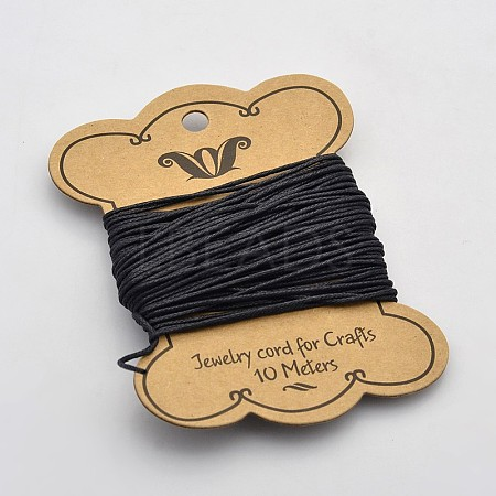 Black Waxed Cotton Cord X-YC-1.2mm-332-1