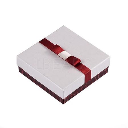 Rectangle Jewelry Set Cardboard BoxesCBOX-TA0001-02-1
